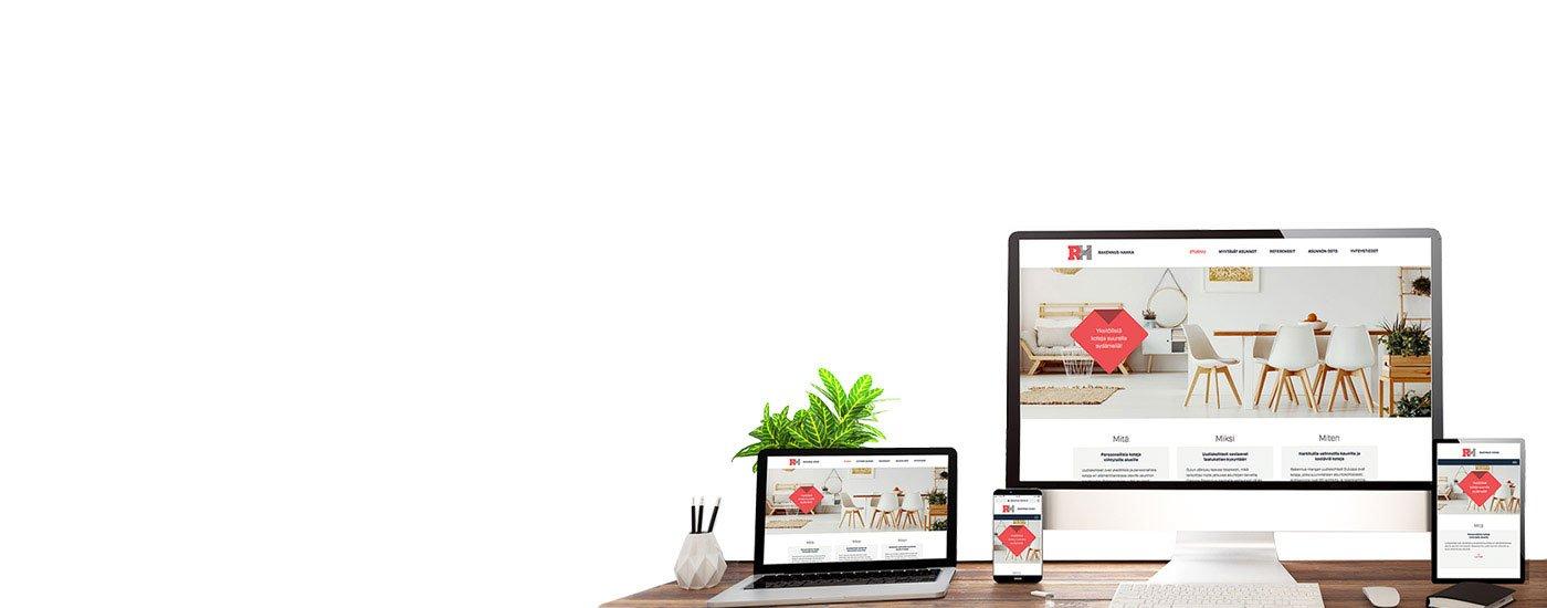 yksilölliset verkkosivut
